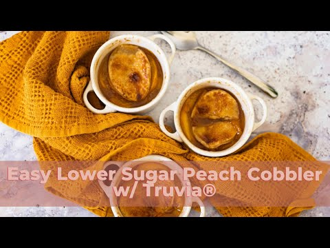 Lower Sugar Peach Cobbler with Truvia®   The Hangry Woman