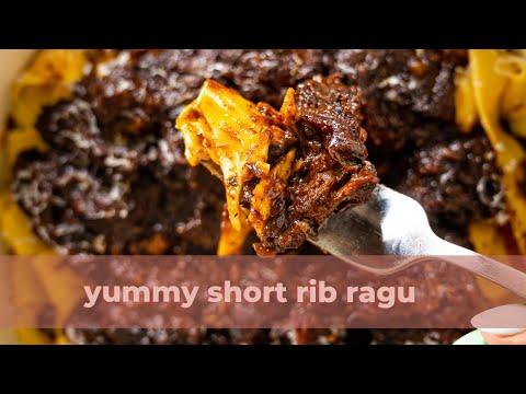 Short rib ragu cooking ASMR #shorts