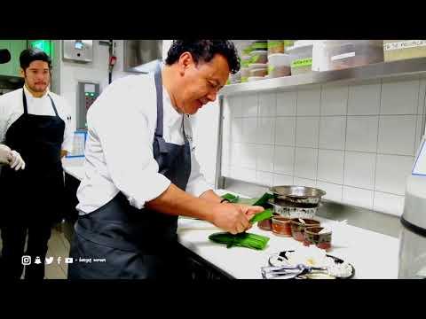 Chef Hugo Ortega makes Tamal de Pollo con Mole Negro