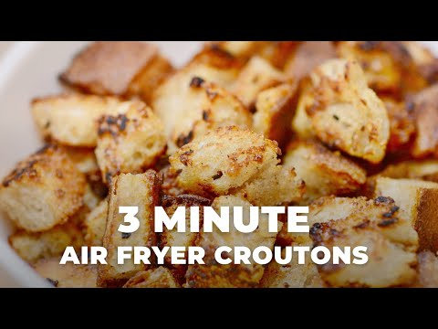 Air Fryer Croutons | Make croutons in your air fryer in less than 3 minutes | Hangry Woman #Shorts
