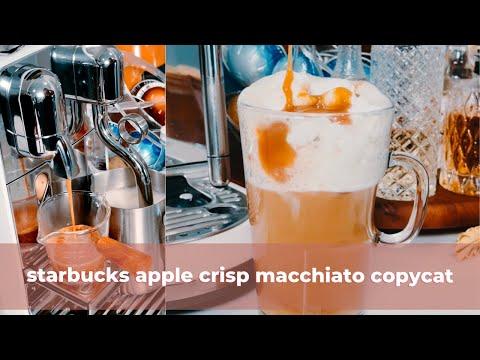 Copycat Starbucks Apple Crisp Macchiato Recipe | Starbucks Fall 2021 drinks at home | #shorts