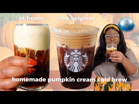 Sugar-Free Starbucks Pumpkin Cream Cold Brew Recipe at home | The Hangry Woman