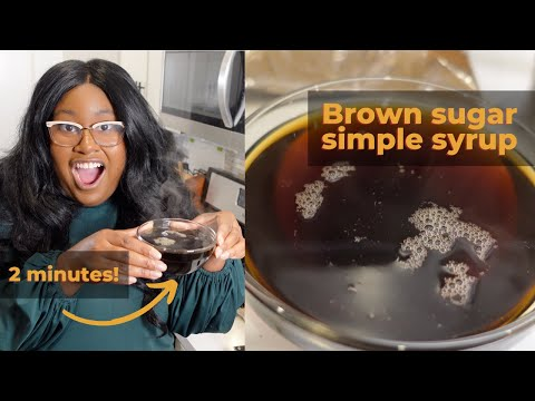 How to Make Brown Sugar Simple Syrup | The Hangry Woman