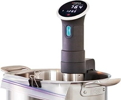 Anova Culinary Sous Vide Precision Cooker Bluetooth Connected.