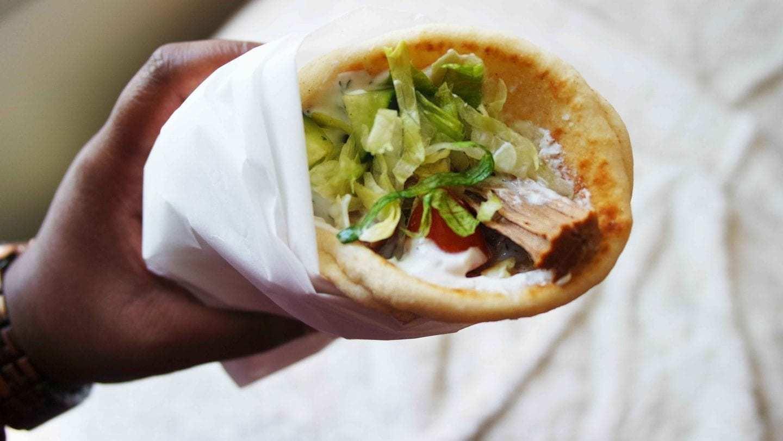 Greek Gyro Sandwhich with Tzatziki Sauce