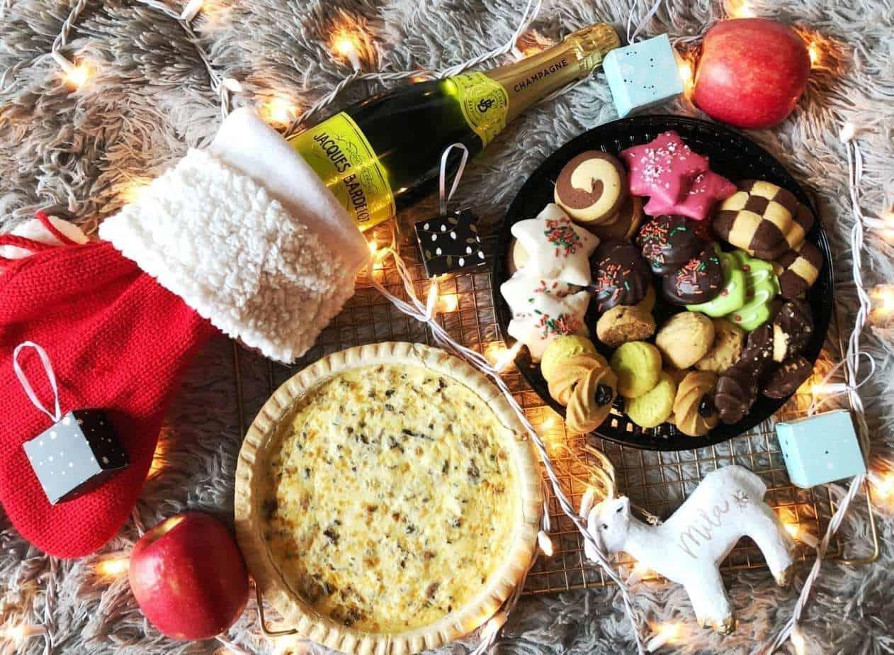 An easy Christmas Morning Breakfast Spread