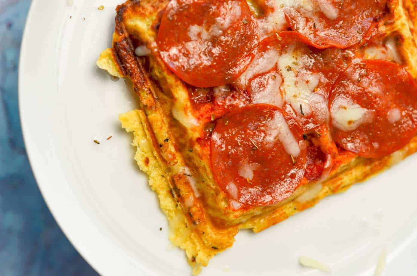 pepperoni pizza chaffle