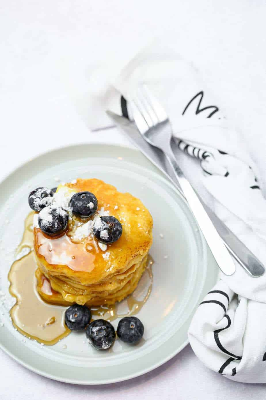 Almond Flour pancakes on a plate