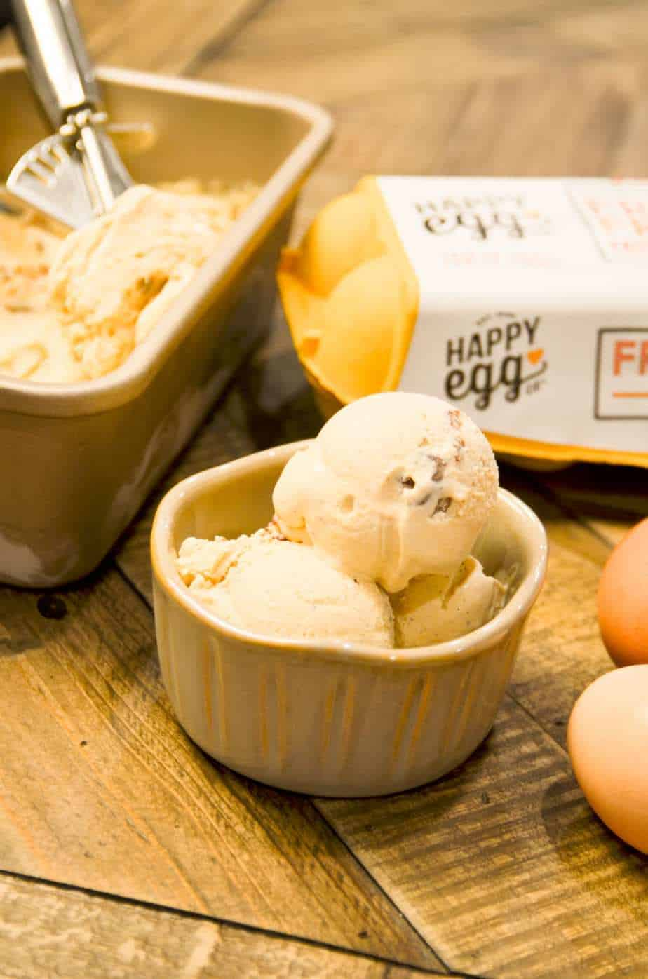 homemade butter pecan ice cream