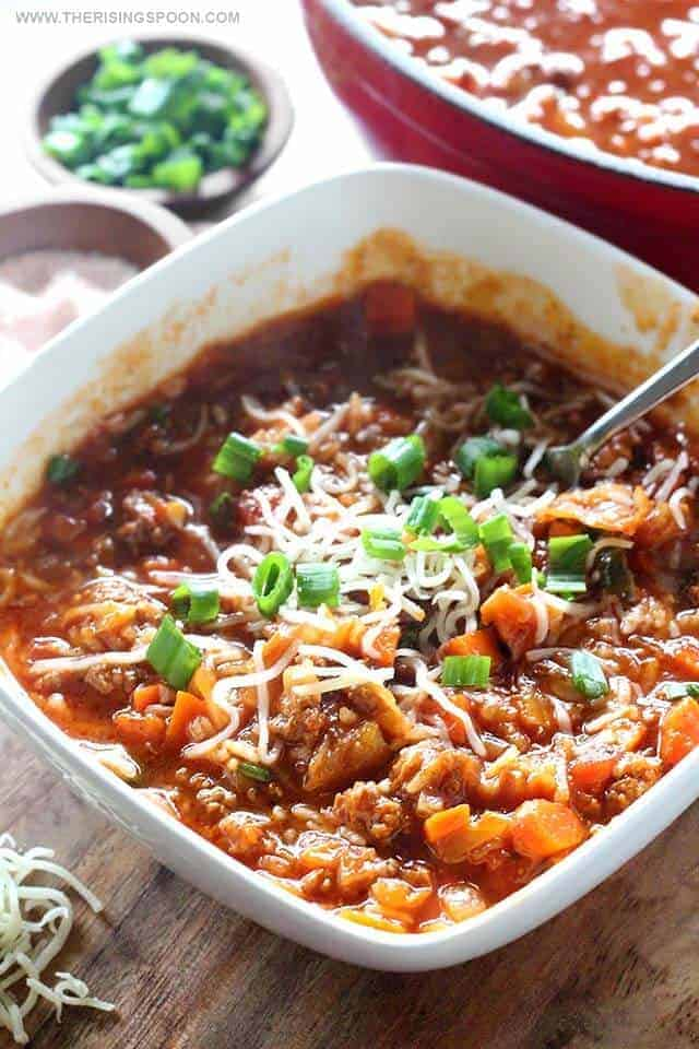Cabbage Roll Soup (Stovetop or Slow Cooker)