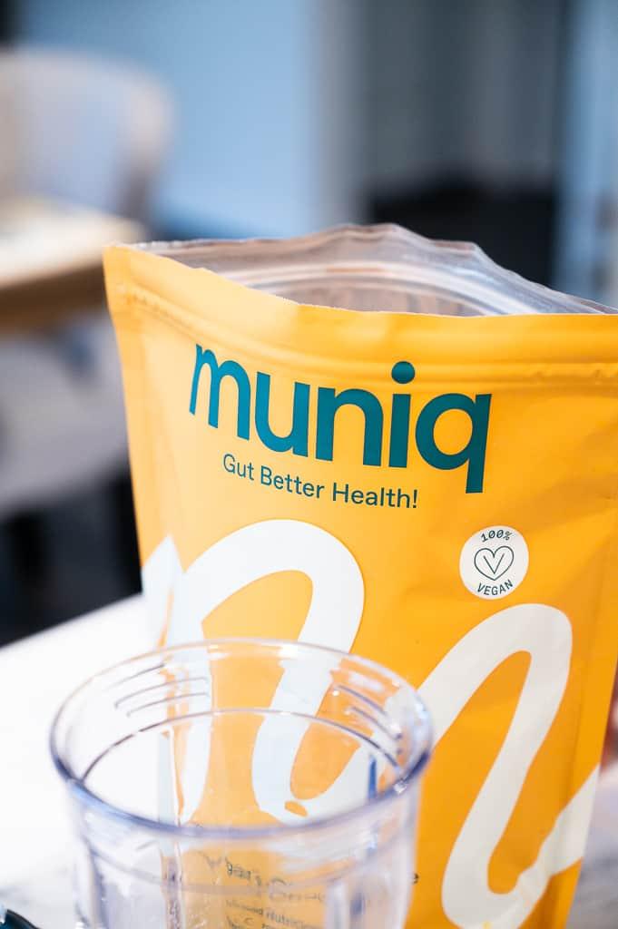Muniq shake bag open