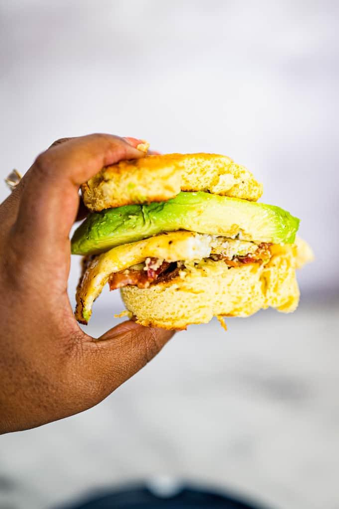 sandwich on 90 second keto bread