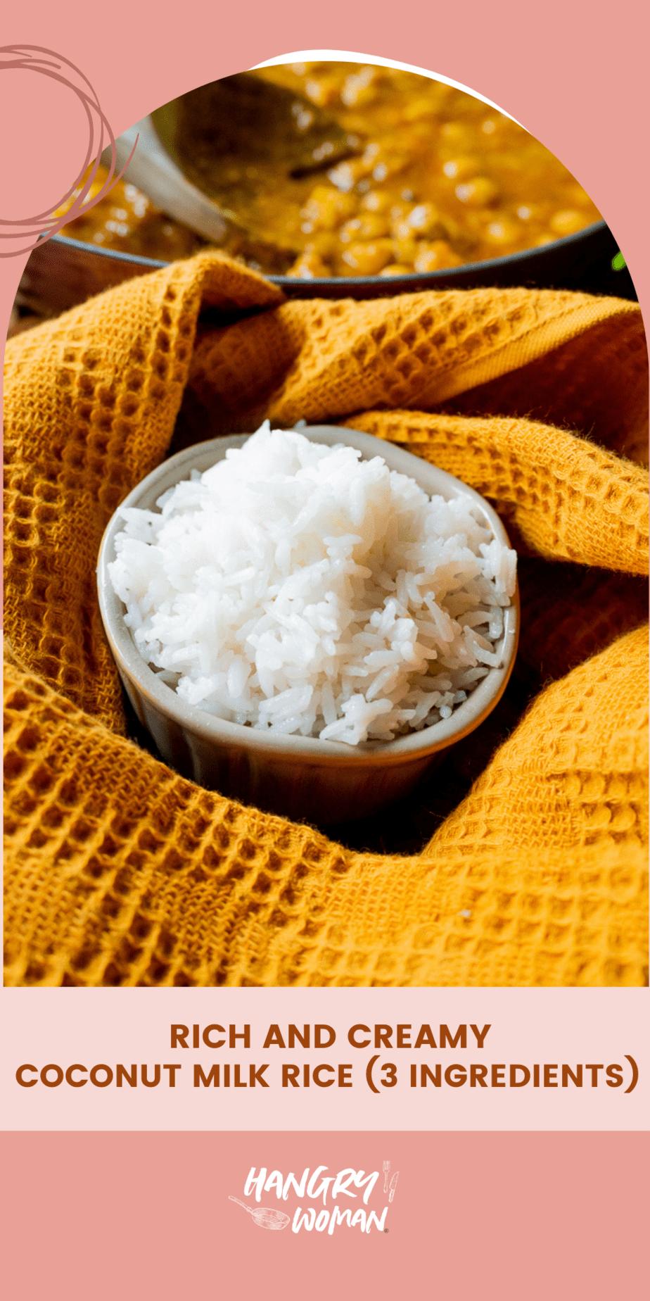 coconut milk rice pinterest pin