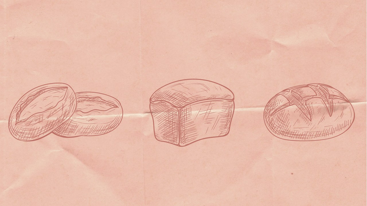 hand drawn loaves of bread