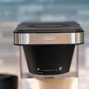 Top of OXO 8-Cup brew
