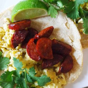 Chorizo And Egg Breakfast Tacos