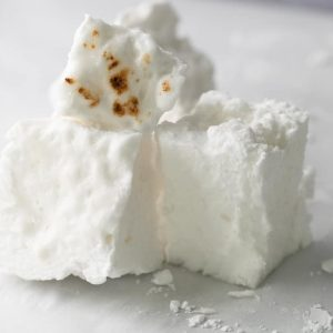 sugarless marshmallows stacked on top of each other